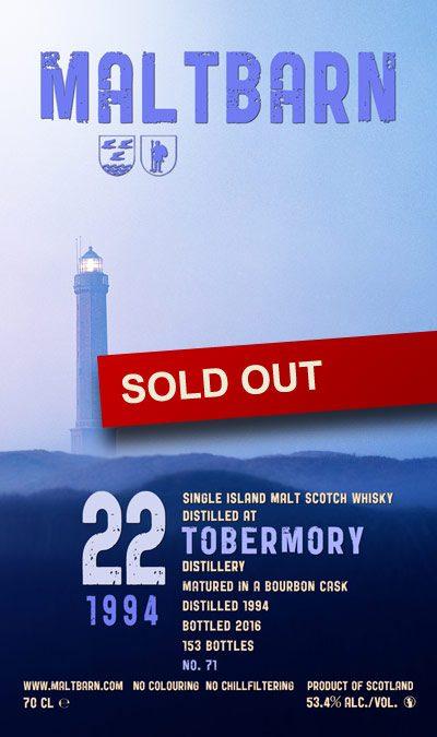 Maltbarn 71 – Tobermory 22 Years