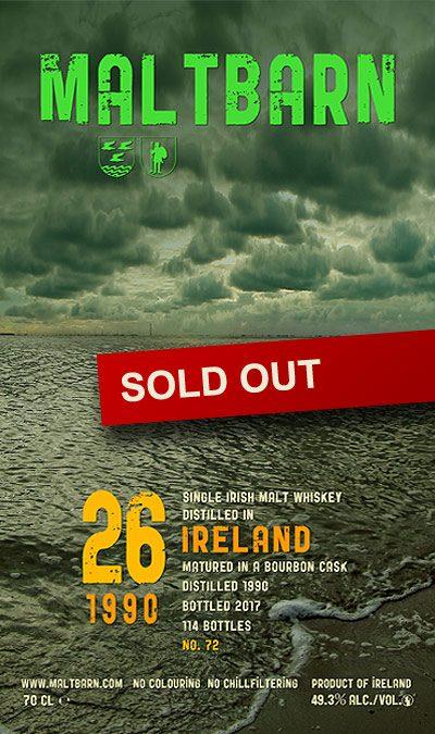 Maltbarn 72 – Single Irish Malt Whisky 26 Years