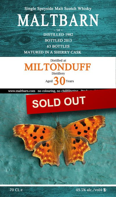 Maltbarn 14 – Miltonduff 30 Years
