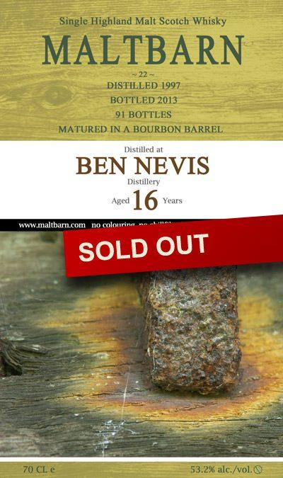 Ben Nevis Distillery 16 Years