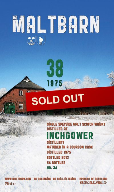 Maltbarn 34 –  Inchgower 38 Years