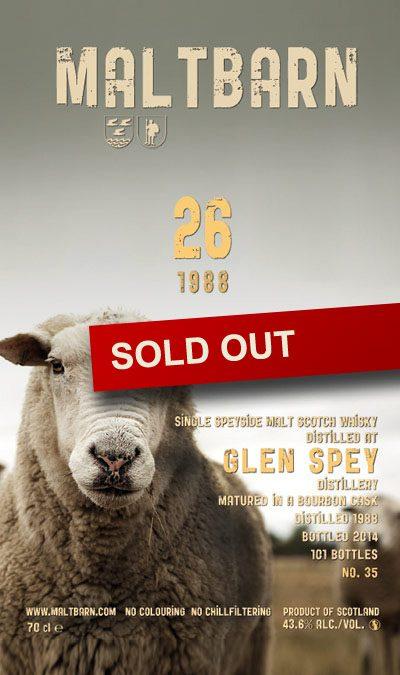 Maltbarn 35 –  Glen Spey 26 Years