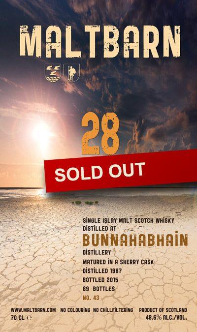 Maltbarn 43 –  Bunnahabhain 28 Years
