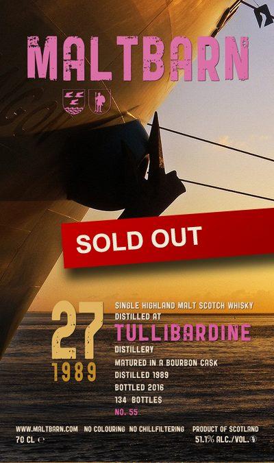 Maltbarn 55 – Tullibardine 27 Years
