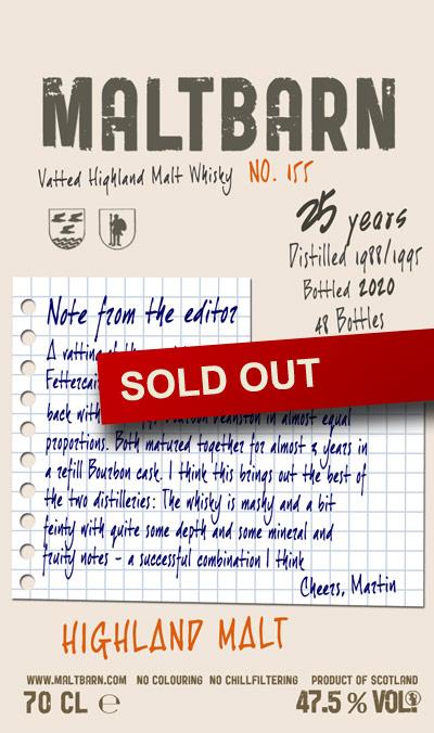 Maltbarn 155 – Vatted Highland Malt Whisky